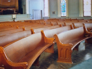 Restoration of antique church pews